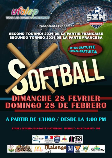 Baseball, softball and futsal, an active Sunday for the SXM Sport Mouvement Association