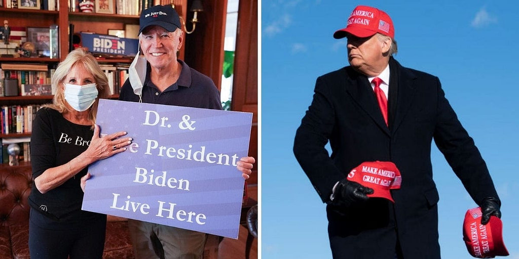 Joe Biden wears the baseball cap 'We Just Did', sparking trend