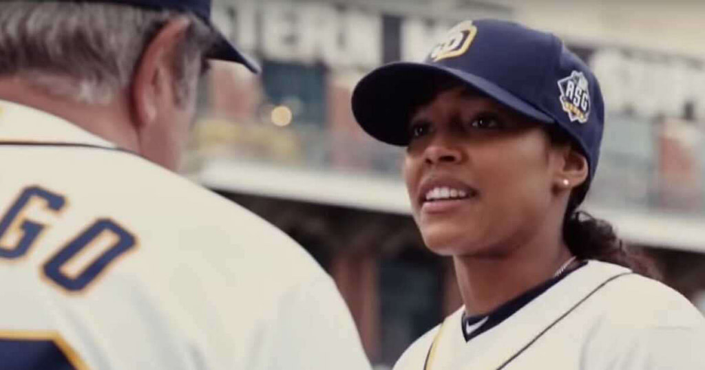 is the series devoted to the arrival of a woman in Major League Baseball taken from a true story?