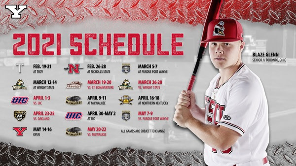 Baseball Announces Schedule for 2021 - Youngstown State Athletics
