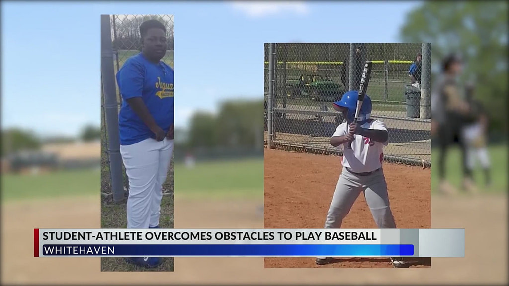 Whitehaven student overcomes obstacles to play baseball