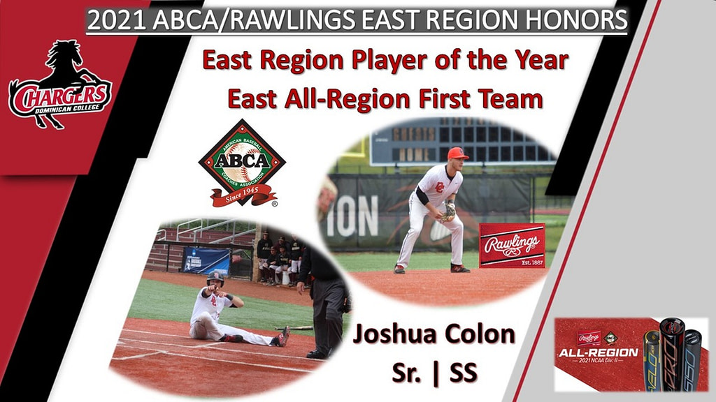 BASEBALL'S COLON NAMED ABCA EAST REGION PLAYER OF THE YEAR AND EAST ALL-REGION FIRST TEAM