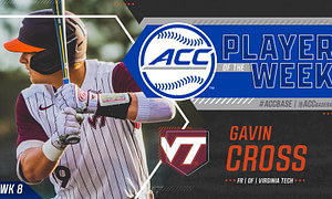 Virginia Tech's Cross, NC State's Willadsen Earns ACC Baseball Weekly Honors