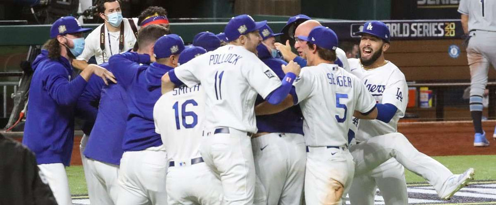 The Los Angeles Dodgers with the title 32 years later
