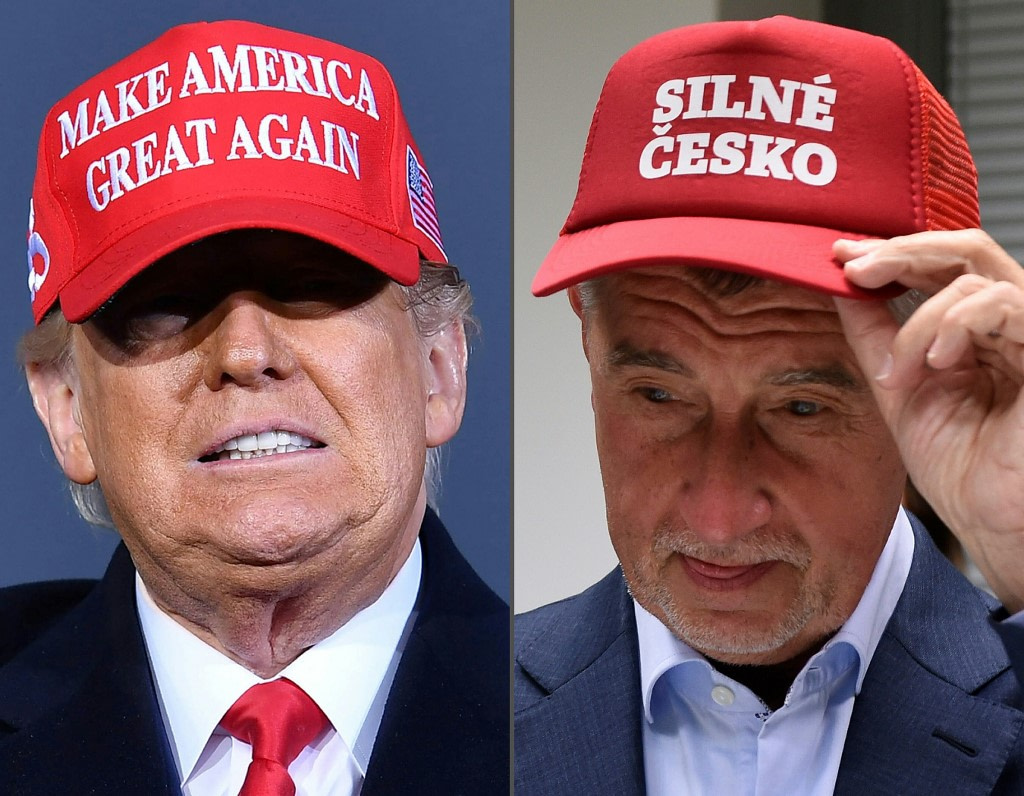 'Czech Trump' takes off his red cap