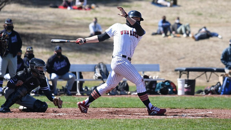 Baseball holds late to Salvage Split with Amherst