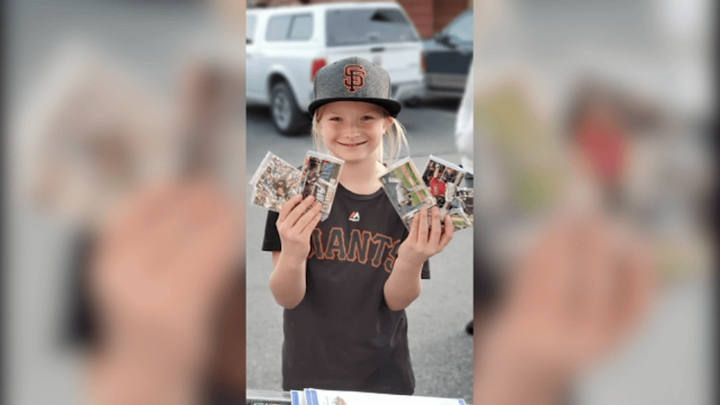 Creek Fire: 9-year-old Resse Osterberg shares new baseball cards with the community