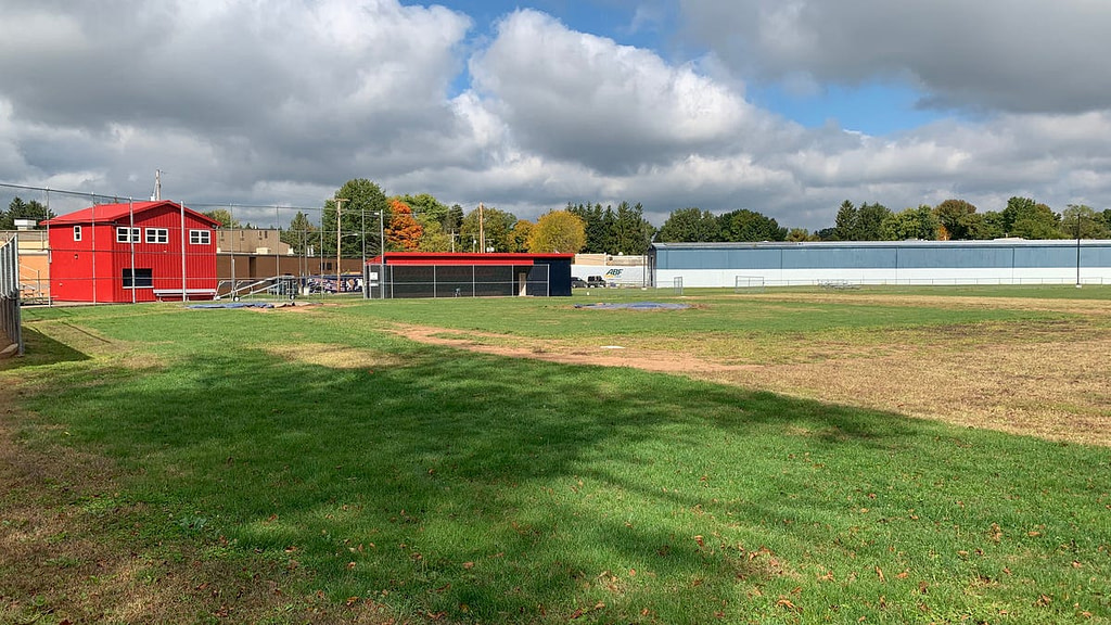 New turf comes to Indian Valley baseball field.