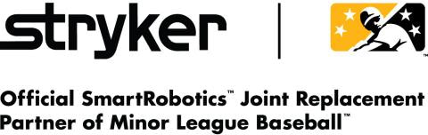 "Stryker enters national partnership with Minor League Baseball to become the ""official SmartRobotics ™ Joint Replacement Partner"""