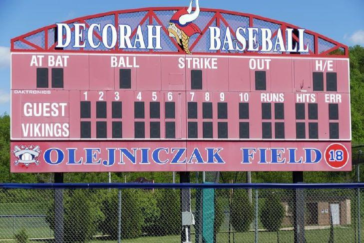 Decorah Viking baseball team retained first place in NEIC on Friday by beating New Hampton at home - decorahnews.com