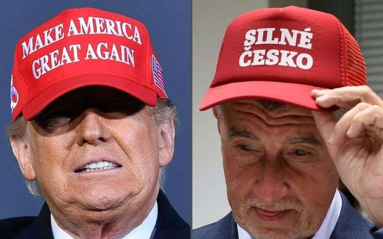 The Czech Prime Minister takes off his Trump hat after the violence in the Capitol