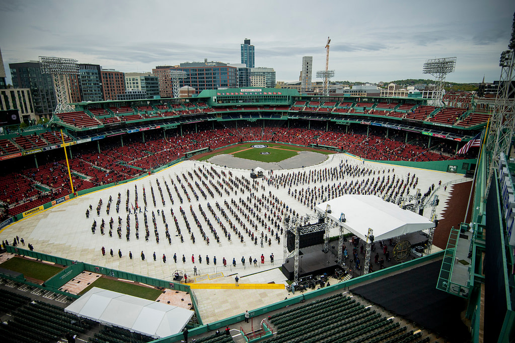 Northeastern's 2021 Commencement ceremonies kicked off Saturday in the historic confines of Fenway Park