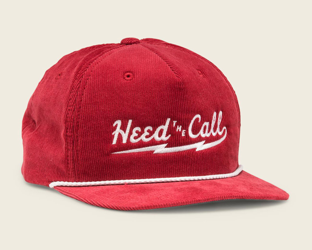 Howler Brothers HTC Red Corduroy Snapback