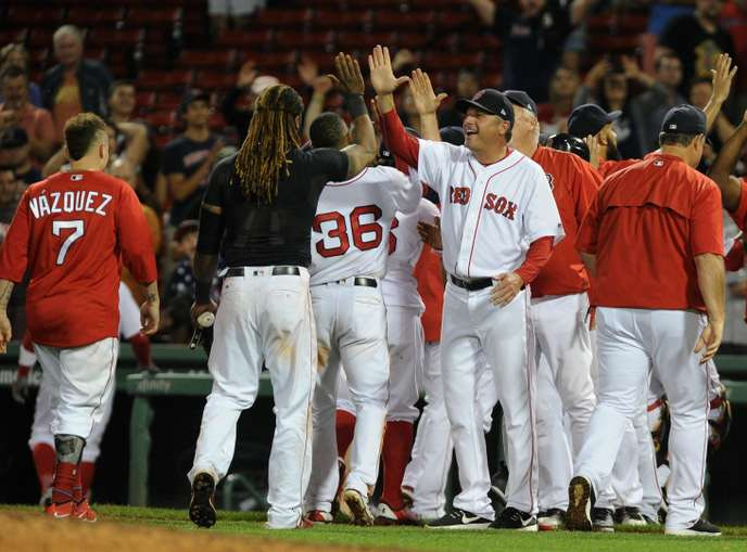 The Boston Red Sox team, September 5th.