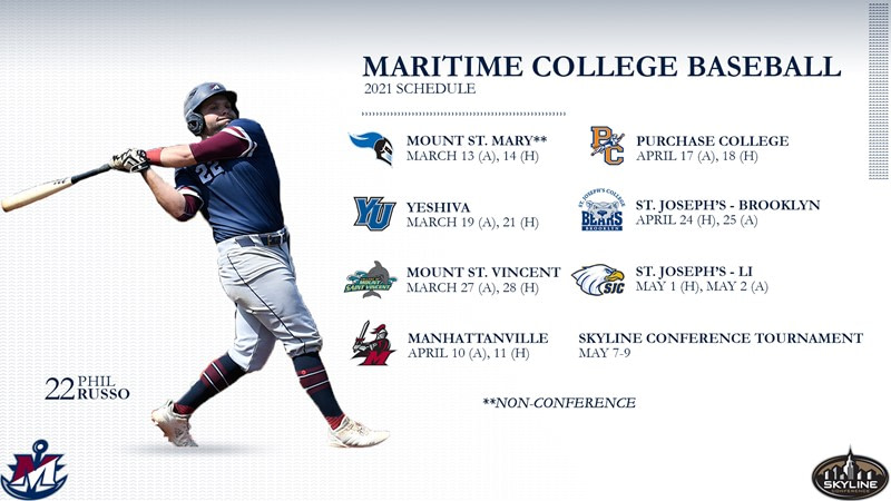 Maritime College Baseball launches schedule for 2021