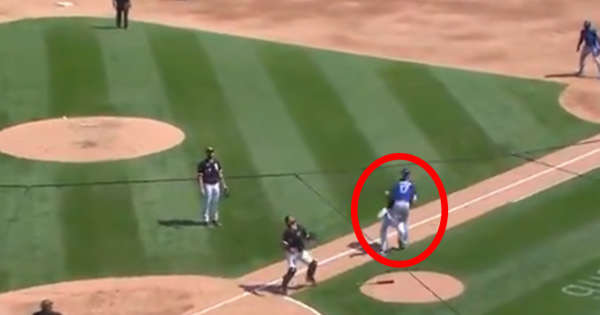 two baseball players hit each other on the head (video)