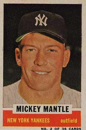 1961 Bazooka Baseball Mickey Mantle