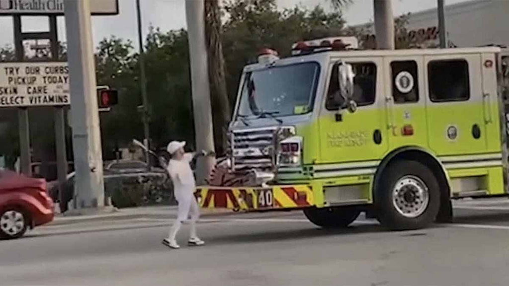 Video Shows Man Busting Miami-Dade Fire Truck Windshield With Baseball Bat - NBC 6 South Florida